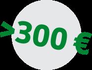 več kot 300